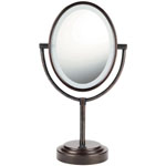 CONAIR® Oval Oiled Bronze Double-Sided Illuminated Mirror