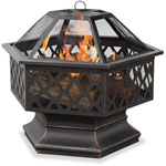 Mr. Bar-B-Q® Endless Summer Outdoor Wood Burning Fireplace w/Bronze Finish