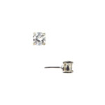 ANNE KLEIN Silver-Tone Round Cubic Zirconia Stud Earrings