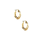 ANNE KLEIN 3 Ring Hoop Earrings