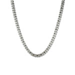 ANNE KLEIN Silver-Tone Crystal Glass Tubular Pave Collar Necklace