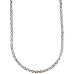 ANNE KLEIN Silver-Tone Crystal Glass Tubular Pave Strand Necklace