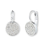 ANNE KLEIN Silver-Tone Crystal Pave Drop Earrings