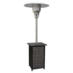HANOVER™ OUTDOOR Square Wicker Propane Patio Heater