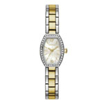 Caravelle New York by BULOVA Women's Two-Tone Watch w/Mother Of Pearl Dial