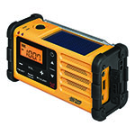 SANGEAN® AM/FM Hand Crank Radio w/Solar Charger & Weather Alert