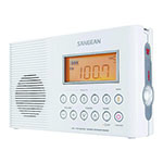 SANGEAN® AM/FM Waterproof Shower Radio w/Weather Alert