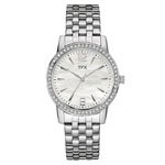 BULOVA TFX Collection Women's Silver-Tone Watch w/Crystal Bezel