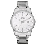 BULOVA TFX Collection Men's Silver-Tone Watch w/Crystal Bezel