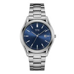 BULOVA TFX Collection Men's Silver-Tone Watch w/Blue Dial