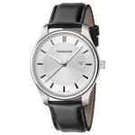 Wenger® Women's City Classic Silver-Tone Watch w/Black Leather Strap