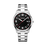 Wenger® Men's City Active Silver-Tone Watch w/Black Dial