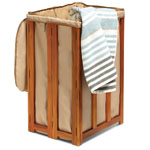 CONAIR® Solid Teak Spa Hamper