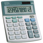 ROYAL® Compact Desktop Solar 12-Digit Calculator