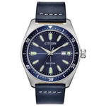 Citizen Men's Brycen Eco-Drive Silver-Tone Watch w/Blue Strap