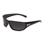 bolle'® Python Shiny Black Sunglasses w/Gray Polarized Lens