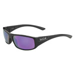 bolle'® Weaver Shiny Black Sunglasses w/Violet Polarized Lens