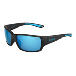 bolle'® Kayman Matte Black Sunglasses w/Offshore Blue Polarized Lens