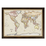 Winding Hills Designs Magnetic World Travel Map