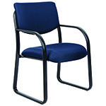 BOSS Office Products® Blue Fabric Guest Chair