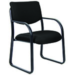 BOSS Office Products® Black Fabric Guest Chair