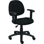 BOSS Office Products® Black Deluxe Posture Chair