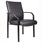 BOSS Office Products® LeatherPlus Guest Chair