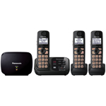 Panasonic® Expandable Digital Cordless Answering System w/3 Handsets