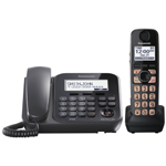 Panasonic® Digital Cordless Answer w/1 Corded and 1 Cordless