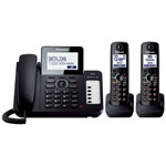 Panasonic® Digital Answer w/1 Corded and 2 Cordless