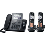 Panasonic® Multi-Line Answer w/1 Corded and 2 Cordless