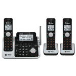 at&t® DECT 6.0 Expandable Cordless Phone System w/3 Handsets